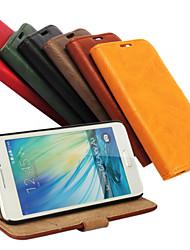 abordables -Funda Para Samsung Galaxy Funda Samsung Galaxy Soporte de Coche / con Soporte / Flip Funda de Cuerpo Entero Un Color Cuero de PU para A3
