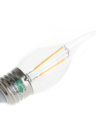 e26 / e27 ha condotto le luci della candela t 2 il potere alto ha condotto 180lm bianco caldo 3000k-3500k decorativo ac 220-240v