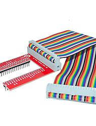 cheap -Raspberry Pie 3 GPIO Extended DIY Kit (40P +GPIO V2 Rainbow Line)