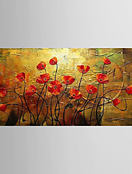 Oil Painting Flower Knife Living Painting Hand Painted Canvas with Stretched Framed