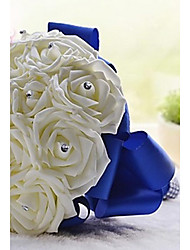 "cheap -Wedding Flowers Bouquets Wedding Party / Evening Crystal Rhinestone Satin Foam 11.02""(Approx.28cm)"