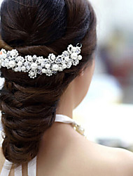 abordables -Cristal Acrylique Tissu Diadèmes Fleurs 1 Mariage Occasion spéciale Fête / Soirée Casque