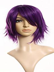 Cartoon Fashion Models Purple Short Hair Wig