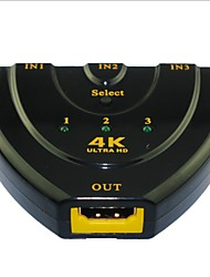 baratos -yong wei® 4 Porta 3-em-1-out 4k x 2k de ultra v1.4 hd hdmi 3d switcher