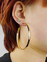 Hoop Earrings Alloy Statement Jewelry Fashion Screen Color Jewelry 2pcs