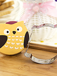cheap -Cartoon Owl Shape Cookie Cutters  Fruit Cut Molds Stainless Steel