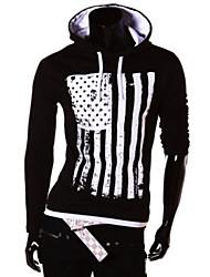 Informell Kapuzenshirt - Langarm - MEN - T-Shirts ( Baumwoll Mischung )
