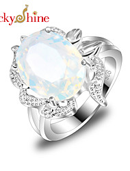 cheap -Men's Statement Ring Moonstone Fashion Silver Costume Jewelry Party