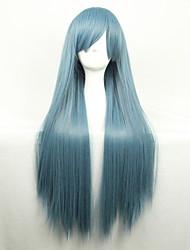 Недорогие -Парики из искусственных волос Прямой Стиль Ассиметричная стрижка Без шапочки-основы Парик Зеленый Зеленый Искусственные волосы Жен. Природные волосы Зеленый Парик Длинные Парики для косплей