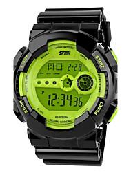 SKMEI Herre Sportsur Armbåndsur Digital Watch Quartz Digital Japansk Quartz LCD Kalender Kronograf Vandafvisende alarm Gummi Bånd Sort