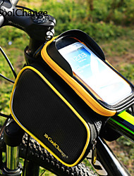 CoolChange Bike Frame Bag Cycling Backpack Backpack Accessories Cell Phone Bag 6.2 inch Reflective Strip Rain-Proof Skidproof Touch Screen