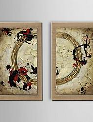 ulje na platnu moderne apstraktne ruku slikano prirodni posteljina s pruži uramljena - set od 2