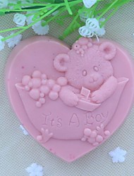 cheap -It's A Boy Heart Shaped Fondant Cake Chocolate Silicone Mold, Decoration Tools Bakeware