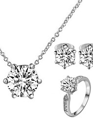 cheap -Women's Crystal Jewelry Set - Crystal, Cubic Zirconia, Imitation Diamond Classic Include Rings Set For Wedding / Party / Daily