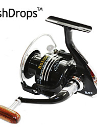 FISHDROPS BSLGH2000 5.5:1, 13 Ball Bearings One Way Clutch Spinning Fishing Reel, Right & Left Hand Exchangable