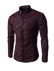 cheap -Men's Classic & Timeless Shirt-Solid Colored,Pure Color