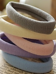 cheap -Good To Use Elastic Durable Multicolor Seamless Rubber Hair Bands