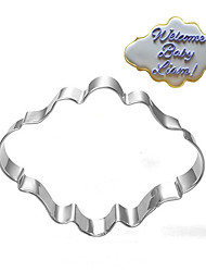 cheap -Oval Blessing Frame Shape Cookie Cutters  Fruit Cut Molds Stainless Steel