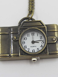 Creative Camera Shaped Pocket Watch Sweater Necklace