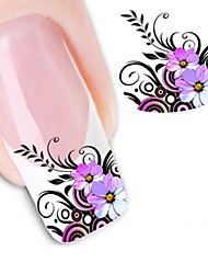 cheap -1 Water Transfer Sticker 3D Nail Stickers Flower Abstract Fashion Daily High Quality