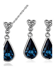 cheap -Women's Crystal Jewelry Set - Crystal, Cubic Zirconia Drop Include For Wedding / Party / Daily