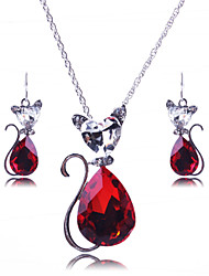 cheap -Women's Jewelry Set Zircon Alloy Cross Cat Animal Party Fashion Daily Casual Earrings Necklaces Costume Jewelry
