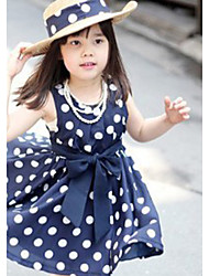cheap -Girl's  Fashion Leisure Stripe Sleeveless Bowknot Dress