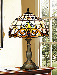 cheap -Tiffany Multi-shade Table Lamp For Glass 220-240V Yellow