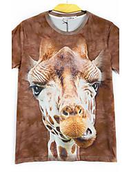 お買い得  -男性用 アニマルプリント Tシャツ クラシック・タイムレス 多色