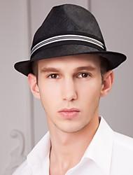 Недорогие -Мужчины случайные летняя солома шляпа fedora элегантный классический женский стиль