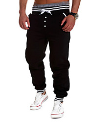 economico -Da uomo Taglia piccola Pantaloni,Con stampe Cotone Elastico