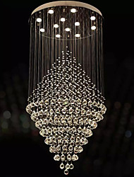 cheap -LED Transparent Crystal Chandeliers Round Pendant Light Lighting Lamps Fixtures AC 100 to 240V D80CM H160CM