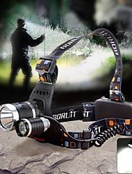 ヘッドランプ ヘッドライト LED 1800lm lm 4.0 モード Cree XM-L T6 Cree Q5 焦点調整可 防水 ズーム可能 のために キャンプ/ハイキング/ケイビング サイクリング 屋外 電池は含まれていません