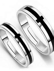 Statement Rings Silver Cross Adjustable Silver Jewelry Party 1pc