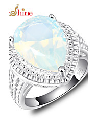cheap -Men's Women's Statement Rings Moonstone Fashion Silver Jewelry Party