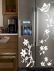 cheap -Shapes Florals Cartoon Botanical Wall Stickers Plane Wall Stickers Fridge Stickers, Vinyl Home Decoration Wall Decal Wall Decoration
