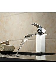 Смеситель для ванны - Латунь - Водопад / Звук Глава Душ - Ар деко / Ретро (Хром)