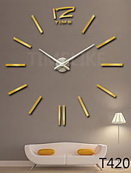 cheap -3D Fashion Design Large Wall Clock Home Decor Diy Clock