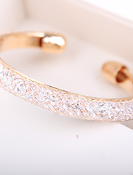 cheap -Women's Rhinestone Cuff Bracelet - Personalized Unique Design Handmade Fashion Simple Style European Others Golden Bracelet For Christmas