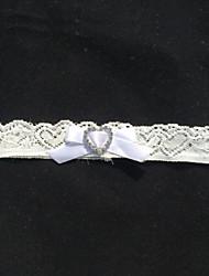cheap -Lace Fashion Wedding Garter 617 Rhinestone Sweetheart Garters