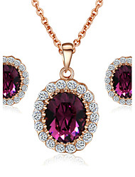 cheap -Women's Crystal Jewelry Set - Crystal, Cubic Zirconia, Imitation Diamond Include For Wedding / Party / Daily