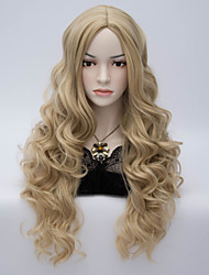 Long Wave Synthetic Wigs Womens' Neat Bang Hair High Quality synthetic Wig