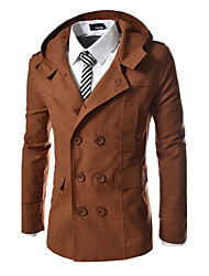 cheap -Men's Classic & Timeless Coat-Solid Color,Formal Style