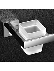 cheap -Toilet Brush Holder Contemporary Stainless Steel / Glass 1 pc - Hotel bath