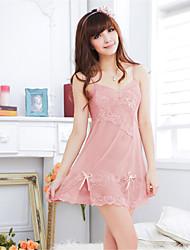 preiswerte -Damen Roben Besonders sexy Nachtwäsche einfarbig Organza Rosa