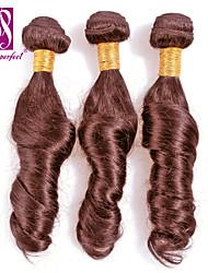 Недорогие -Бразильские волосы Классика Свободные волны Ткет человеческих волос 3 предмета Высокое качество 0.3 Повседневные