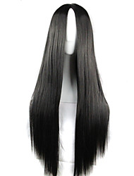 cheap -Synthetic Wig / Cosplay & Costume Wigs Straight Asymmetrical Haircut Synthetic Hair Natural Hairline Black Wig Women's Long Capless