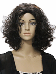 cheap -European and American Fashion Girl Necessary Curly Hair Black Wig