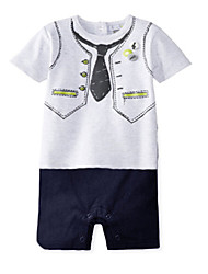 cheap -Baby Boys' Floral Overall & Jumpsuit, Cotton Summer Short Sleeves Screen Color