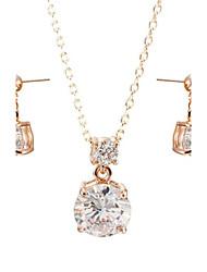 economico -Parure di gioielli Cristallo Cristallo Zircone cubico Lega Matrimonio Feste Quotidiano Casual 1 Set Collane Orecchini Regali di nozze